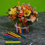 Фото 13: Ваза из карандашей для букета