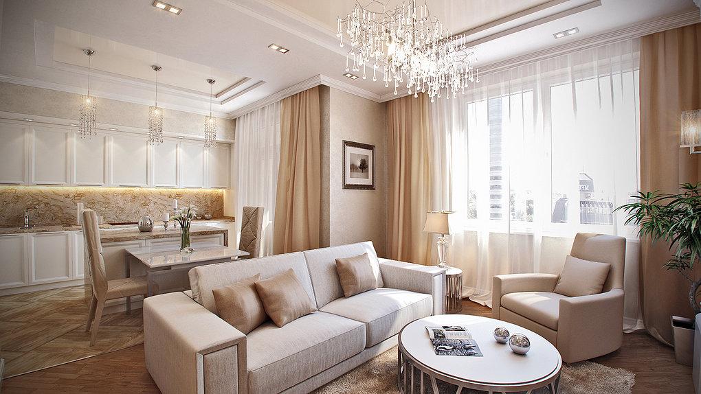 Перепланировка - совмещение комнат (кухня+гостиная)