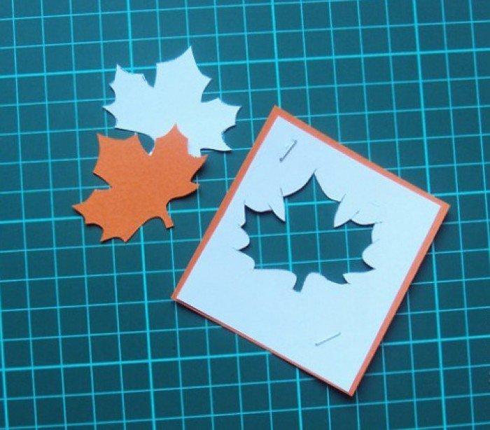 джоулей открытка в виде кленового листа ко дню учителя разнообразие цвете форме