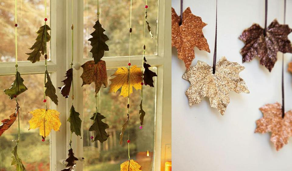 Гирлянды из листьев