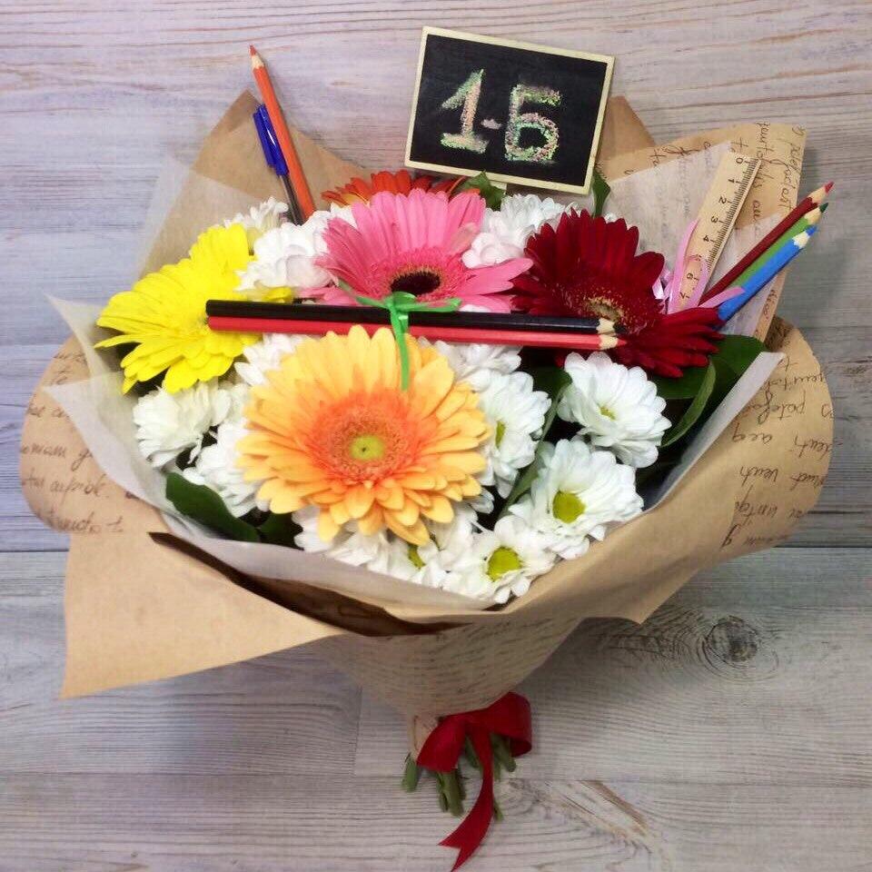 Букеты цветов для учителя фото