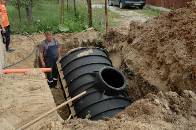 Установка канализации