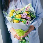 Фото 87: Букет с хризантемами