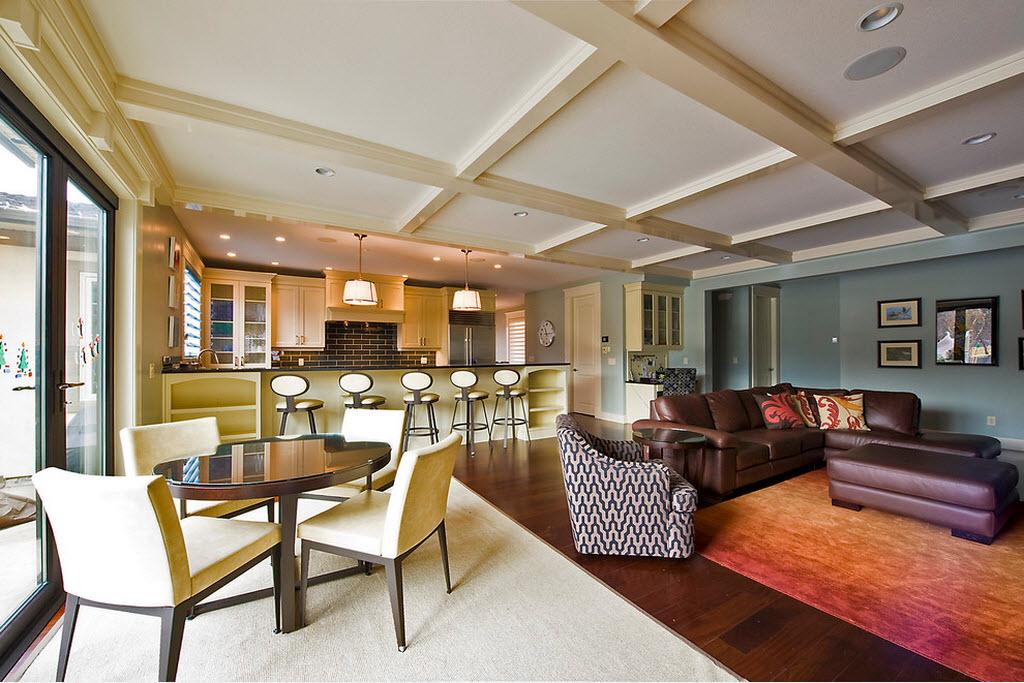 Кухня, совмещенная с гостиной - дизайн частного дома
