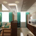 Фото 24: Совмещение кухни с гостиной