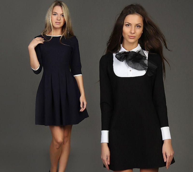Маленькое черное платье для старшеклассниц на 1 сентября
