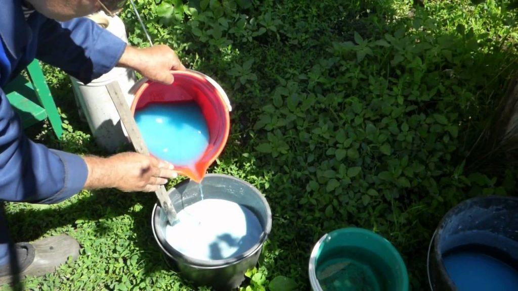 Приготовление раствора для опрыскивания растений