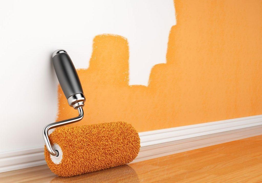 Как правильно покрасить стены валиком