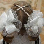 Фото 90: Большие банты на голове с косичками