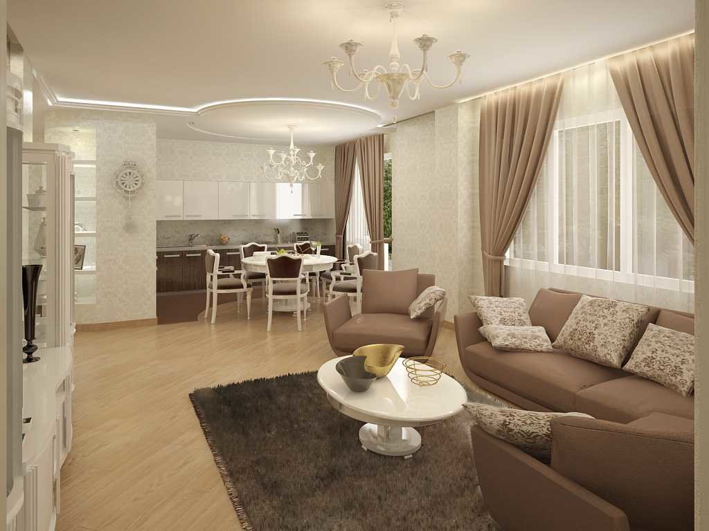 Перепланировка в квартире и стильный интерьер