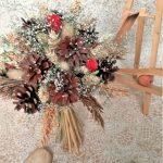 Фото 96: Букет из шишек и сухоцветов