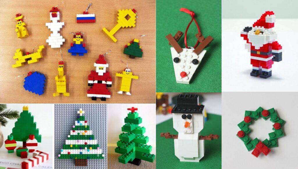 Новогодние елочные игрушки из лего своими руками
