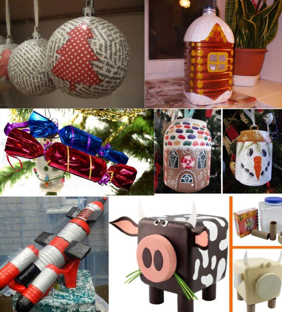 Большие новогодние игрушки своими руками на елку