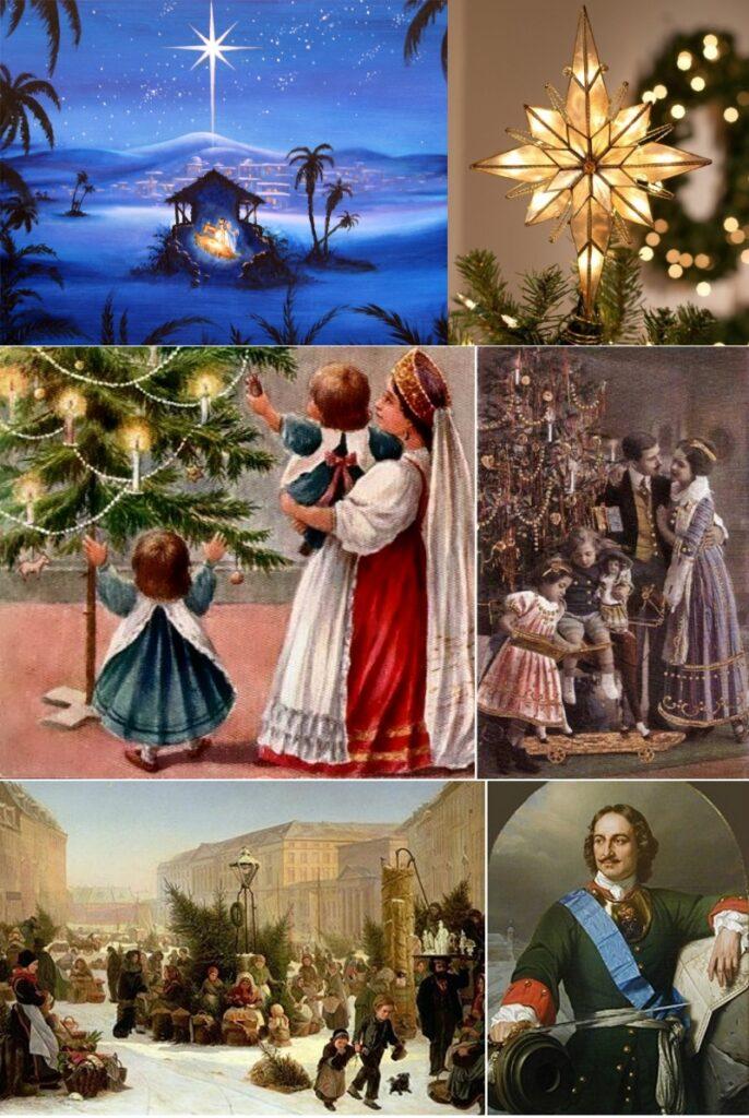История новогодней елки и игрушки