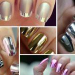 Фото 130: Металлический дизайн ногтей
