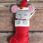 Фото 135: Мышка в носочке из фетра
