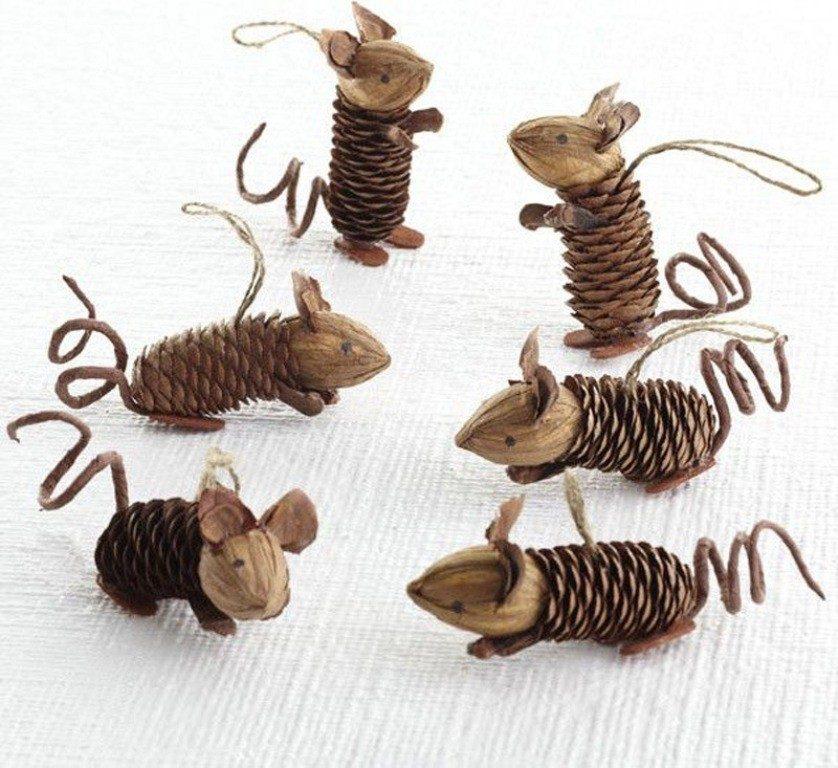 Крыски из шишек