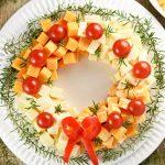 Фото 49: Венок–салат из сыра новогодний