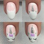 Фото 145: Рисунок единорога на ногтях