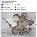 Фото 78: Схема вышивки Крысика