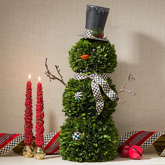 Новогодний топиарий снеговик