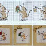 Фото 74: Вышивка мышат