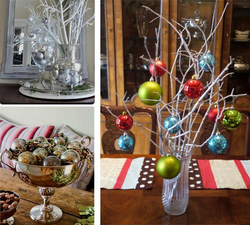 Новогодний декор из елочных шаров