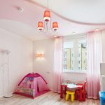 Фото 46: Двухуровневый потолок в детской
