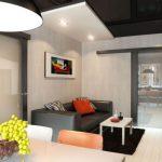 Фото 1: Дизайн гостиной проходной