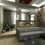 Фото 7: Дизайн зала с проходом