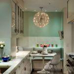 Фото 18: Люстры на кухне