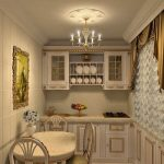 Фото 63: Маленькая кухня в классическом стиле