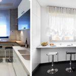 Фото 30: Маленькая кухня с подоконником