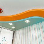 Фото 49: Многоуровневый потолок в детской комнате