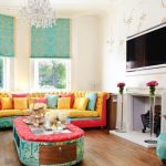 Фото 43: Мятный цвет в гостиной