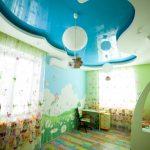 Фото 52: Натяжной потолок в детской идея