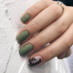 Фото 56: Ногти хаки
