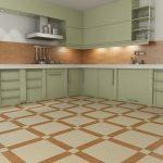 Фото 8: Пол на кухне из плитки
