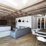 Фото 60: Потолок в квартире идея