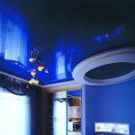 Фото 25: Синий натяжной потолок