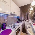 Фото 4: Фотообои на маленькой кухне