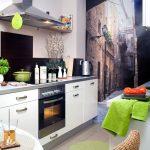 Фото 5: Фотообои на стене кухни