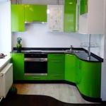 Фото 25: Чёрно-салатовый дизайн кухни