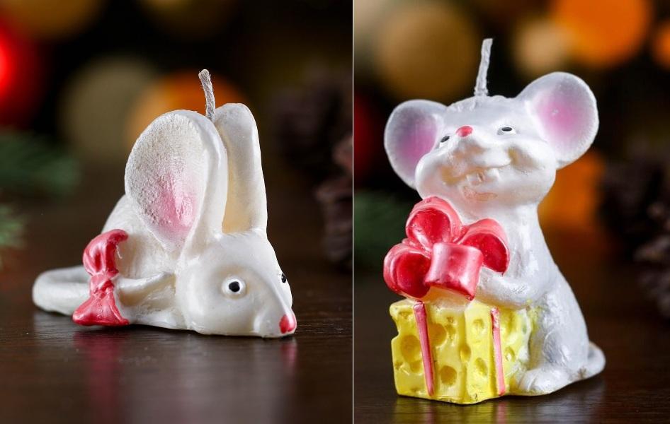 Свечи в виде мышек