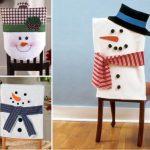 Фото 75: Чехлы снеговики на стулья