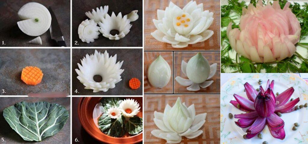 Как сделать цветы из лука своими руками
