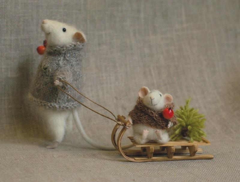 Новогодний декор к Году Крысы