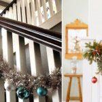 Фото 64: Декор лестницы мишурой