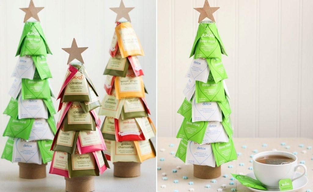Новогодний подарок елочка из чайных пакетиков