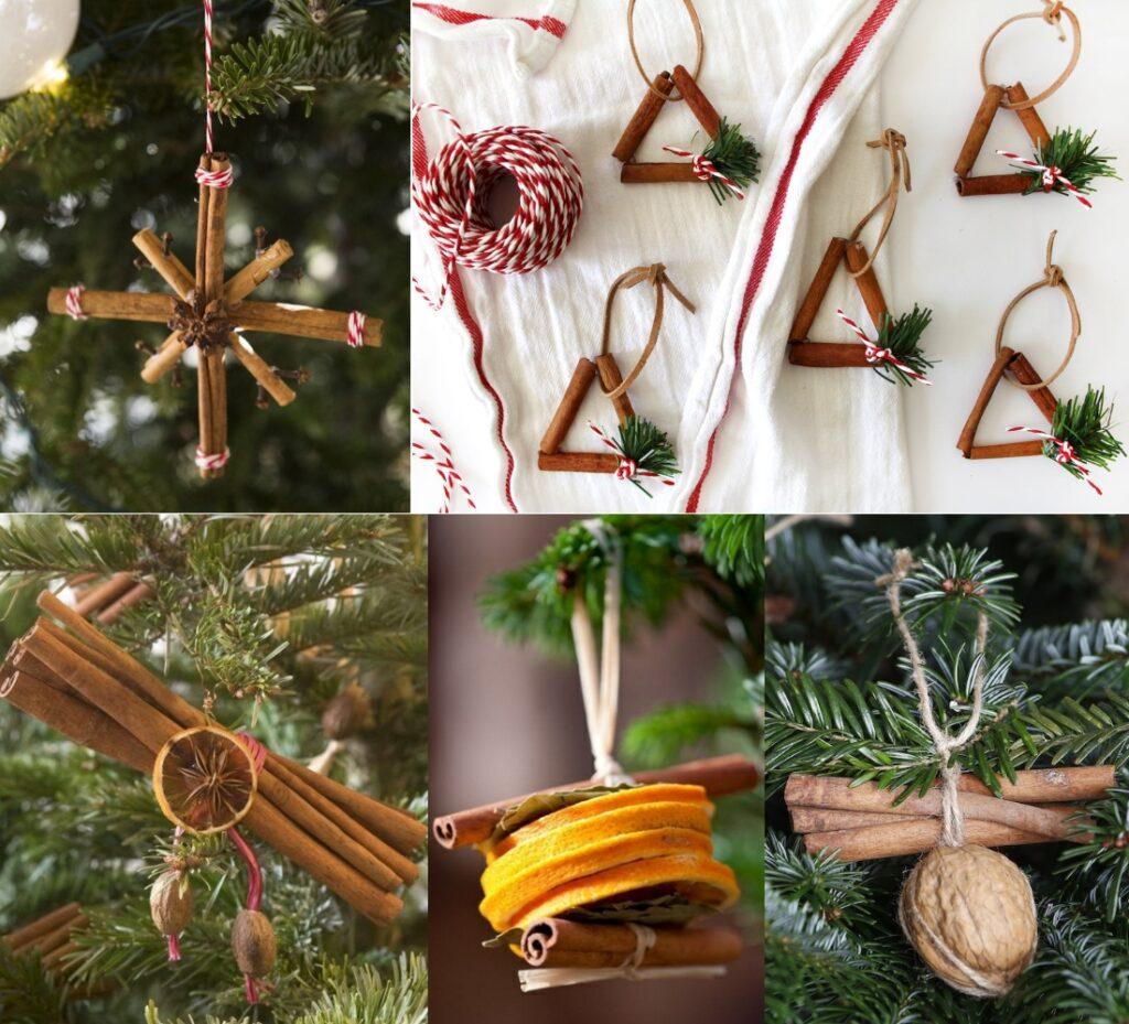 Новогодние игрушки из корицы на елку своими руками